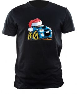 XMAS KOOLART CHRISTMAS SANTA HAT For SUBARU IMPREZA WRX STi TURBO mens or ladyfit t-shirt